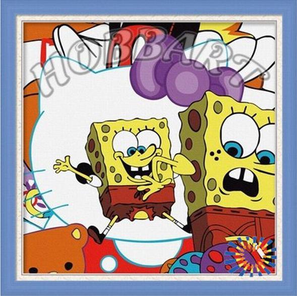 Купить Картина по номерам «Губка Боб. Sponge Bob», Hobbart, Россия, 30x30 см, HB3030003