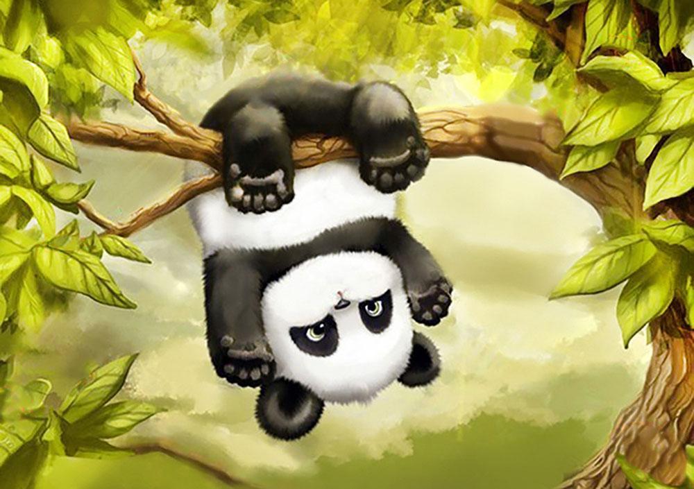 Алмазная вышивка «Маленькая панда»Алмазная вышивка Гранни<br><br><br>Артикул: AG005<br>Основа: Холст без подрамника<br>Сложность: средние<br>Размер: 27x19 см<br>Выкладка: Полная<br>Количество цветов: 25<br>Тип страз: Квадратные