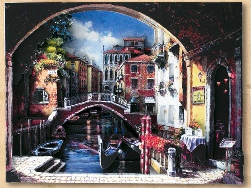 """Папертоль «Венецианская классика»Магия Хобби<br>Техника папертоль - объемное 3D-изображение из бумаги, созданное собственноручно. Простая в исполнении, но очень необычная техника. Набор содержит:<br> - разобранное """"по слоям"""" изображение картины, выполненное на качественной плотной бумаге;<br> - инструкцию ...<br><br>Артикул: РТ130086<br>Основа: Картон<br>Сложность: средние<br>Размер: 26x18 см"""