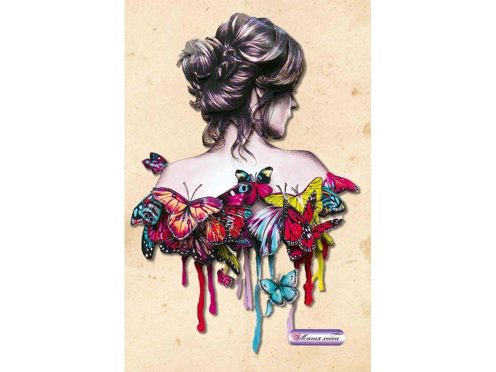Папертоль «Девушка в бабочках»
