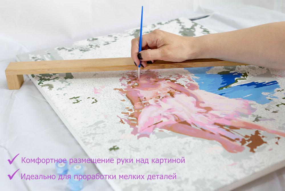 Фиксатор руки для картин 30x40Аксессуары для алмазной живописи<br>Эксклюзивное предложение от Цветное - Фиксатор руки для картин – удобное и, несомненно, нужное приспособление для художников любого возраста, которые предпочитают рисовать на горизонтальной поверхности. У такого, на первый взгляд, простого «девайса» для...<br><br>Артикул: ФР-50<br>Размер: 50 см