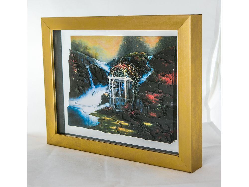 Рамка-аквариум с прозрачным дном для папертолиРамки для папертоль<br>Рамка-аквариум со стеклом и с прозрачным дном, пластик.<br><br>Багет из пластика:<br><br>- ширина 2 см,<br><br>- глубина 4 см.<br><br>Артикул: RAM111019<br>Размер: 21x30 см<br>Цвет: матовое золото<br>Ширина: 20<br>Материал багета: Пластик<br>Глубина багета: 4 см