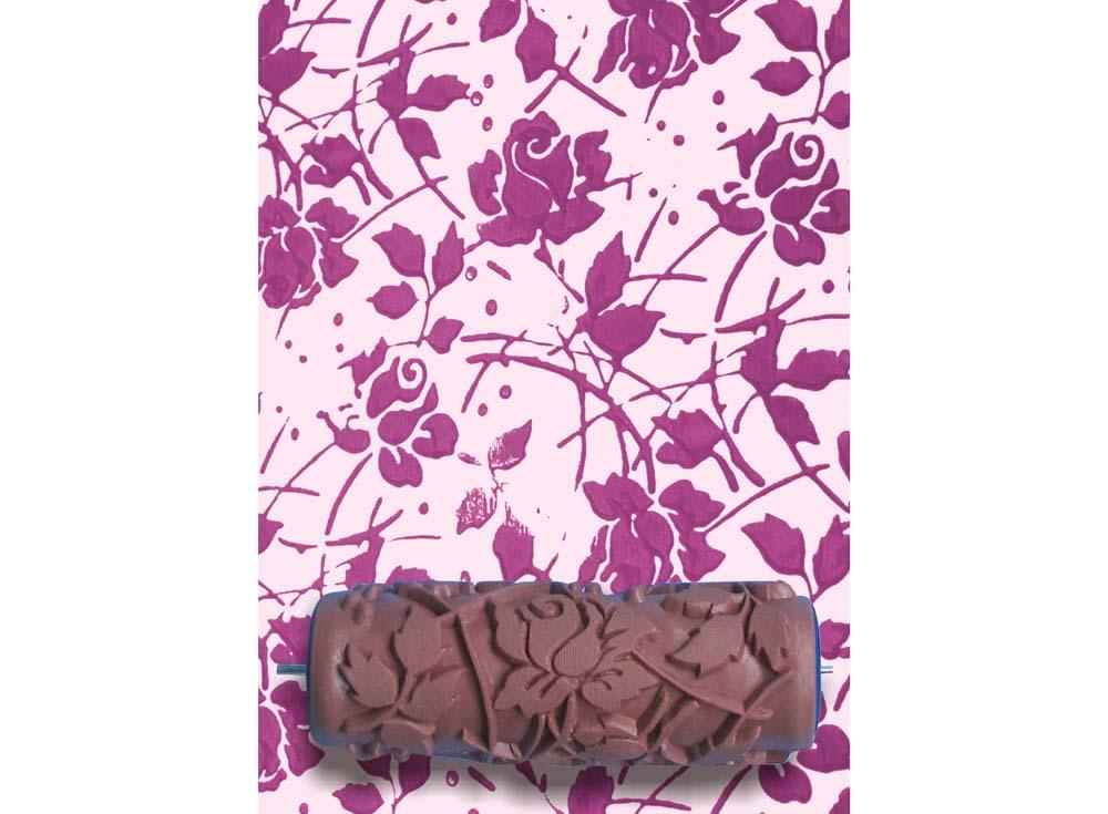 Узорный валик «Розы»Узорные валики для декора стен<br>Рамка для узорного валика приобретается отдельно!<br> <br> Узорный валик - универсальное приспособление для декорирования практически любой поверхности - от дерева до ткани. Просто использовать и легко ухаживать - красивый узор получится в любом случае, даже ...<br><br>Артикул: GR-03