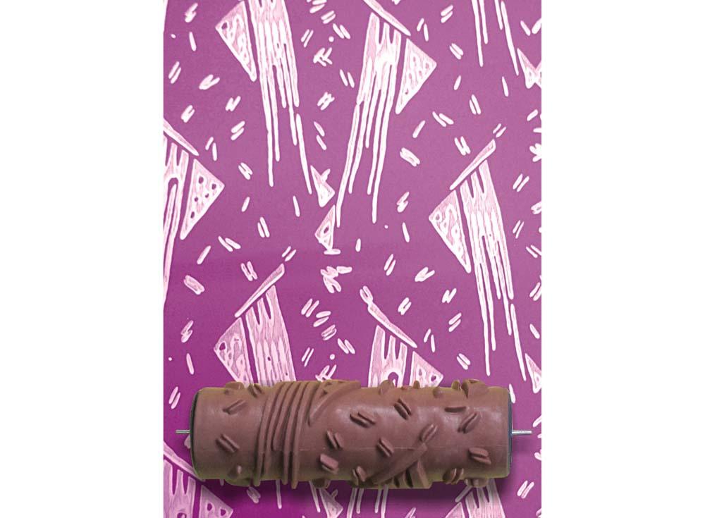 Узорный валик «Хвост кометы»Узорные валики для декора стен<br>Рамка для узорного валика приобретается отдельно!<br> <br> Узорный валик - универсальное приспособление для декорирования практически любой поверхности - от дерева до ткани. Просто использовать и легко ухаживать - красивый узор получится в любом случае, даже ес...<br><br>Артикул: GR-08