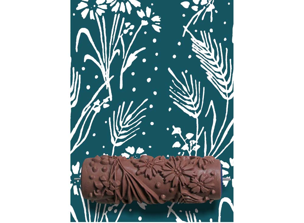 Узорный валик «Колосья»Узорные валики для декора стен<br>Рамка для узорного валика приобретается отдельно!<br> <br> Узорный валик - универсальное приспособление для декорирования практически любой поверхности - от дерева до ткани. Просто использовать и легко ухаживать - красивый узор получится в любом случае, даже ес...<br><br>Артикул: GR-09
