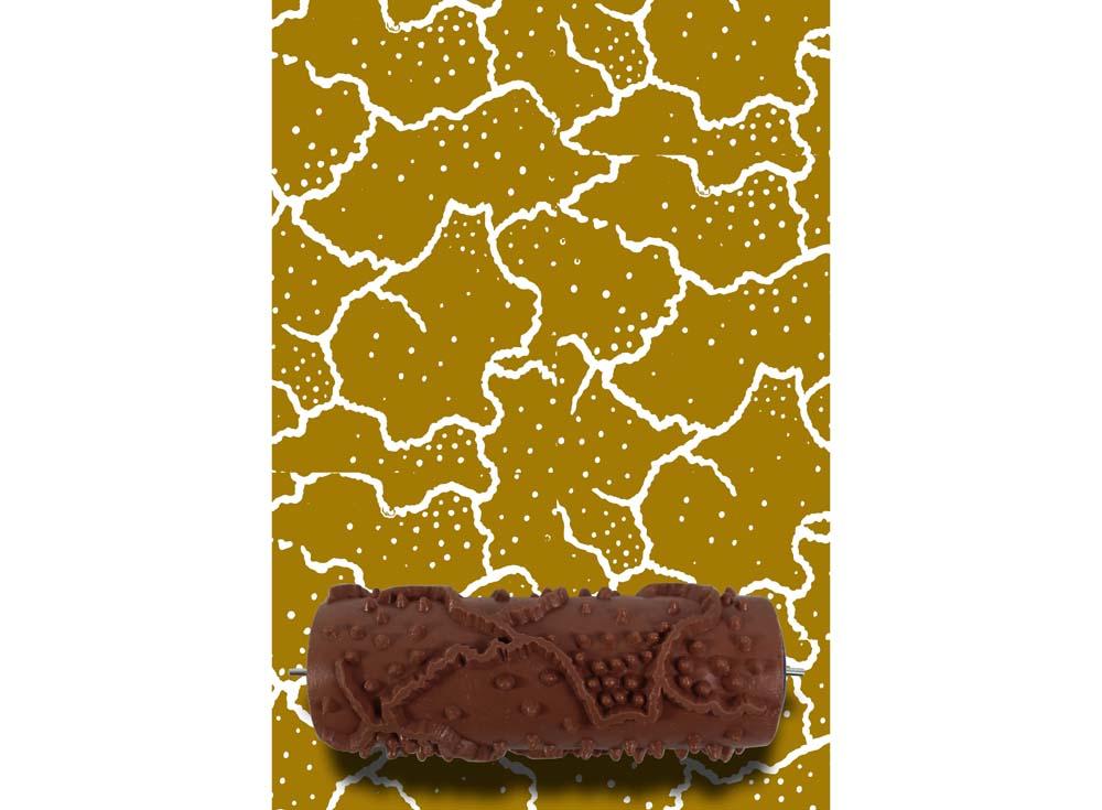 Узорный валик «Трещинки»Узорные валики для декора стен<br>Рамка для узорного валика приобретается отдельно!<br> <br> Узорный валик - универсальное приспособление для декорирования практически любой поверхности - от дерева до ткани. Просто использовать и легко ухаживать - красивый узор получится в любом случае, даже ес...<br><br>Артикул: GR-44