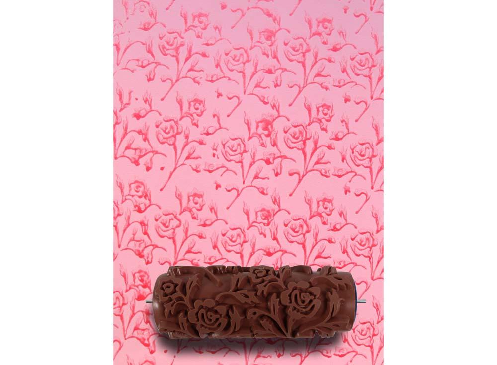 Узорный валик «Розочка»Узорные валики для декора стен<br>Рамка для узорного валика приобретается отдельно!<br> <br> Узорный валик - универсальное приспособление для декорирования практически любой поверхности - от дерева до ткани. Просто использовать и легко ухаживать - красивый узор получится в любом случае, даже ес...<br><br>Артикул: GR-50