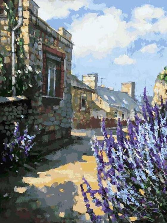 Картина по номерам «Улочка в нормандском городке Бригбек» Елены Калашниковой