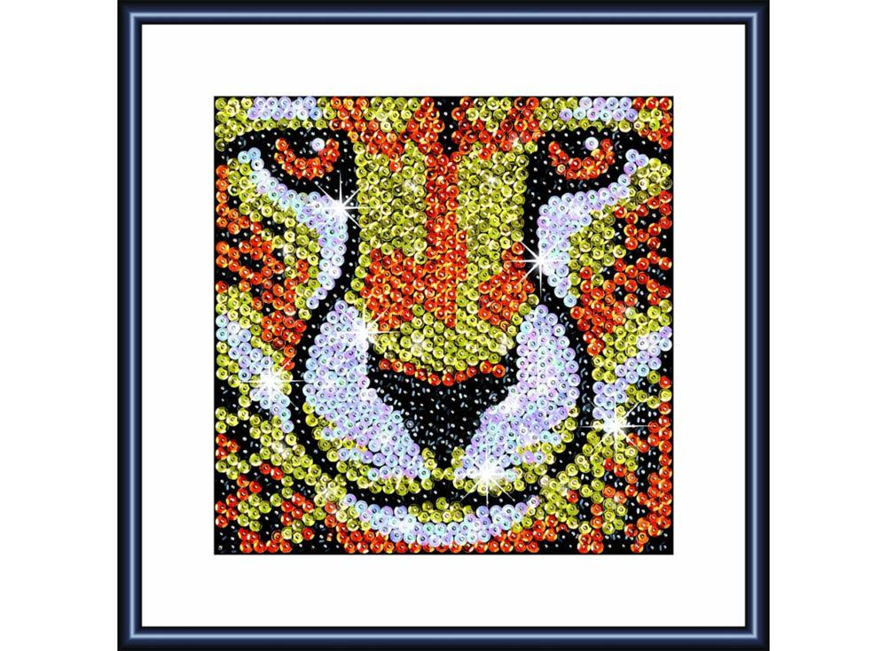 Мозаика из пайеток «Леопард»Мозаика из пайеток<br>Набор мозаики из пайеток содержит все, что нужно для творческого процесса:<br>- основу-планшет из пенопласта;<br>- фон с точечной разметкой расположения паейток по цветам;<br>- разноцветные пайетки;<br>- специальные гвоздики-булавочки;<br>- рамку для готовой работы;<br>- и...<br><br>Артикул: 1114<br>Основа: Планшет из пенопласта<br>Размер: 19x19 см<br>Возраст: от 8 лет