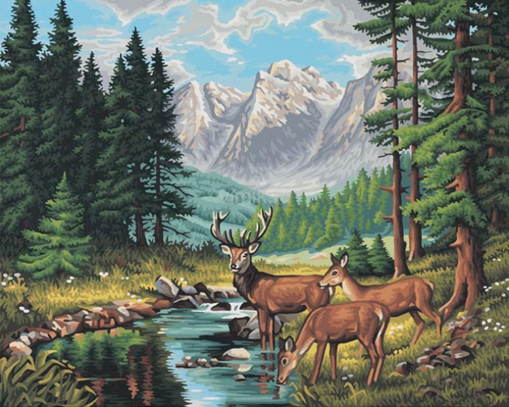 """«Идиллия в горах»Schipper (Шиппер)<br>Производитель наборов картин по номерам """"Schipper"""" - это исключительное качество всех составляющих. Особенностью этого бренда является то, что основа картины - высококачественный картон, покрытие которого имитирует натуральный холст. Краски """"Schipper"""" обл...<br><br>Артикул: 9130344<br>Основа: Картон<br>Сложность: очень сложные<br>Размер: 40x50 см<br>Количество цветов: 36<br>Техника рисования: Без смешивания красок"""