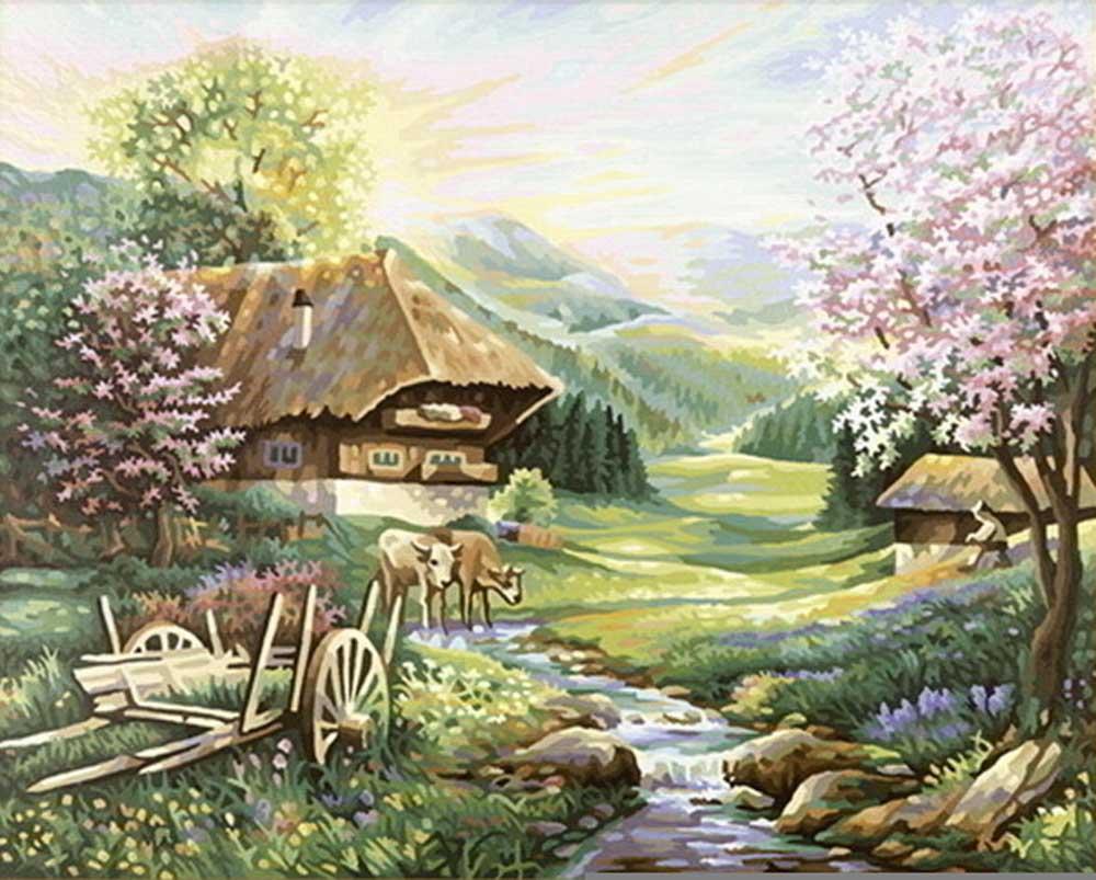 """Картина по номерам «Весна»Schipper (Шиппер)<br>Производитель наборов картин по номерам """"Schipper"""" - это исключительное качество всех составляющих. Особенностью этого бренда является то, что основа картины - высококачественный картон, покрытие которого имитирует натуральный холст. Краски """"Schipper"""" обл...<br><br>Артикул: 9130505<br>Основа: Картон<br>Сложность: средние<br>Размер: 40x50 см<br>Количество цветов: 36<br>Техника рисования: Без смешивания красок"""