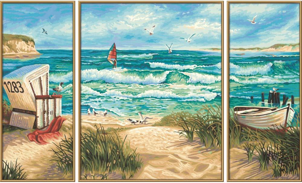 """Картина по номерам «Летний отпуск»Schipper (Шиппер)<br>Производитель наборов картин по номерам """"Schipper"""" - это исключительное качество всех составляющих. Особенностью этого бренда является то, что основа картины - высококачественный картон, покрытие которого имитирует натуральный холст. Краски """"Schipper"""" обл...<br><br>Артикул: 9260595<br>Основа: Картон<br>Сложность: сложные<br>Размер: 2 шт. 20x50 см, 1 шт. 40х50 см<br>Количество цветов: 34<br>Техника рисования: Без смешивания красок"""