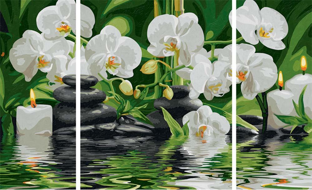 """«Спа-оазис»Schipper (Шиппер)<br>Производитель наборов картин по номерам """"Schipper"""" - это исключительное качество всех составляющих. Особенностью этого бренда является то, что основа картины - высококачественный картон, покрытие которого имитирует натуральный холст. Краски """"Schipper"""" обл...<br><br>Артикул: 9260681<br>Основа: Картон<br>Сложность: средние<br>Размер: 2 шт. 20x50 см, 1 шт. 40х50 см<br>Количество цветов: 24<br>Техника рисования: Без смешивания красок"""