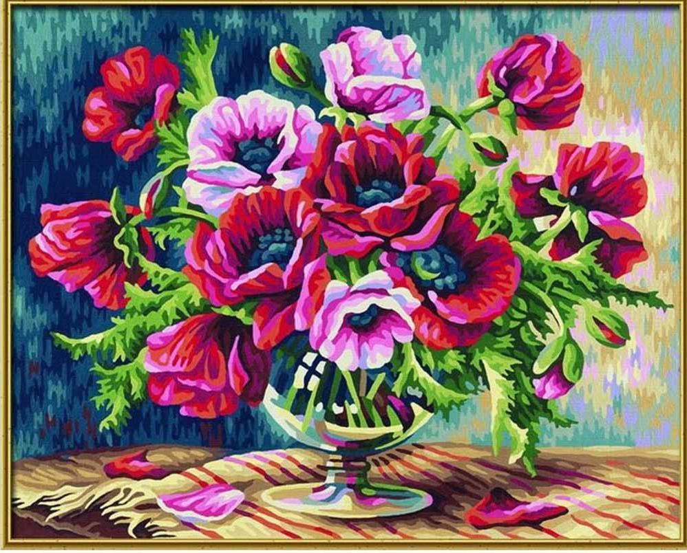 """Картина по номерам «Маки»Schipper (Шиппер)<br>Производитель наборов картин по номерам """"Schipper"""" - это исключительное качество всех составляющих. Особенностью этого бренда является то, что основа картины - высококачественный картон, покрытие которого имитирует натуральный холст. Краски """"Schipper"""" обл...<br><br>Артикул: 9350548<br>Основа: Картон<br>Сложность: средние<br>Размер: 40x50 см<br>Количество цветов: 24<br>Техника рисования: Без смешивания красок"""