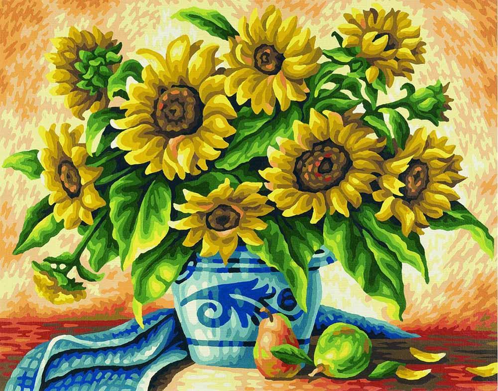 """Картина по номерам «Подсолнухи»Schipper (Шиппер)<br>Производитель наборов картин по номерам """"Schipper"""" - это исключительное качество всех составляющих. Особенностью этого бренда является то, что основа картины - высококачественный картон, покрытие которого имитирует натуральный холст. Краски """"Schipper"""" обл...<br><br>Артикул: 9350549<br>Основа: Картон<br>Сложность: средние<br>Размер: 40x50 см<br>Количество цветов: 24<br>Техника рисования: Без смешивания красок"""