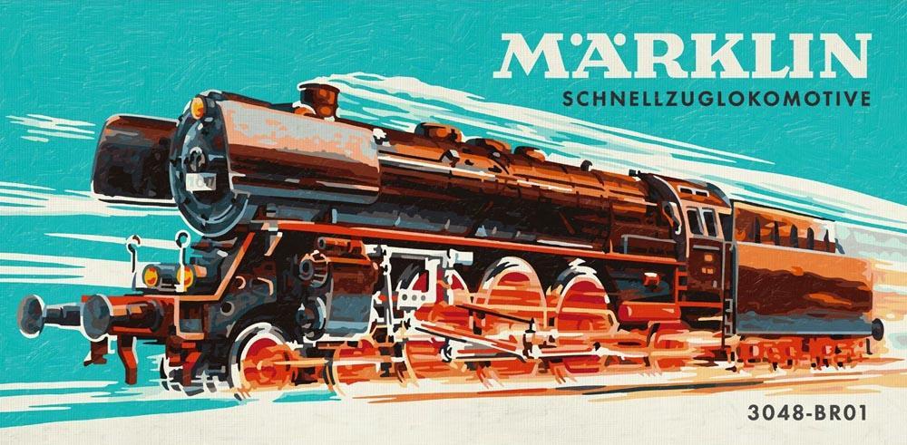"""«Паровоз Marklin»Schipper (Шиппер)<br>Производитель наборов картин по номерам """"Schipper"""" - это исключительное качество всех составляющих. Особенностью этого бренда является то, что основа картины - высококачественный картон, покрытие которого имитирует натуральный холст. Краски """"Schipper"""" обл...<br><br>Артикул: 9410685<br>Основа: Картон<br>Сложность: сложные<br>Размер: 50x25 см<br>Количество цветов: 25<br>Техника рисования: Без смешивания красок"""