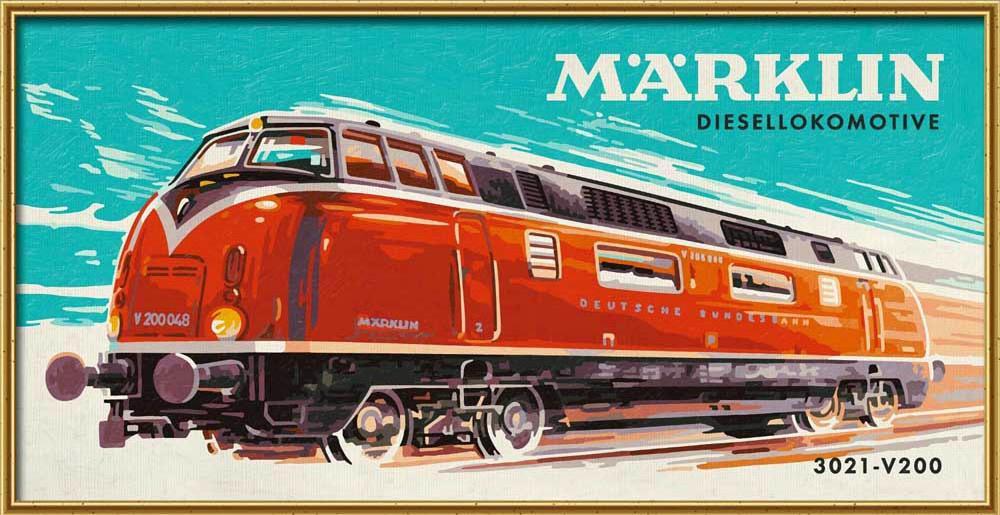 """Картина по номерам «Тепловоз Marklin»Schipper (Шиппер)<br>Производитель наборов картин по номерам """"Schipper"""" - это исключительное качество всех составляющих. Особенностью этого бренда является то, что основа картины - высококачественный картон, покрытие которого имитирует натуральный холст. Краски """"Schipper"""" обл...<br><br>Артикул: 9410686<br>Основа: Картон<br>Сложность: сложные<br>Размер: 50x25 см<br>Количество цветов: 25<br>Техника рисования: Без смешивания красок"""