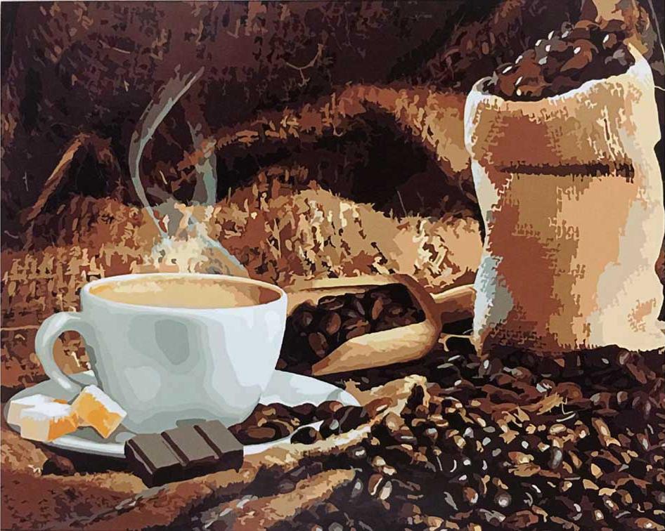 «Аромат кофе»Раскраски по номерам Paintboy (Original)<br><br><br>Артикул: GX8932_R<br>Основа: Холст<br>Сложность: средние<br>Размер: 40x50 см<br>Количество цветов: 24<br>Техника рисования: Без смешивания красок