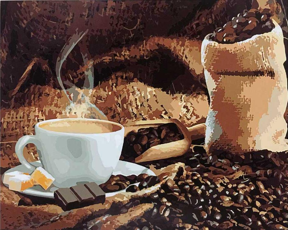 «Аромат кофе»Paintboy (Premium)<br><br><br>Артикул: GX8932<br>Основа: Холст<br>Сложность: средние<br>Размер: 40x50 см<br>Количество цветов: 24<br>Техника рисовани: Без смешивани красок