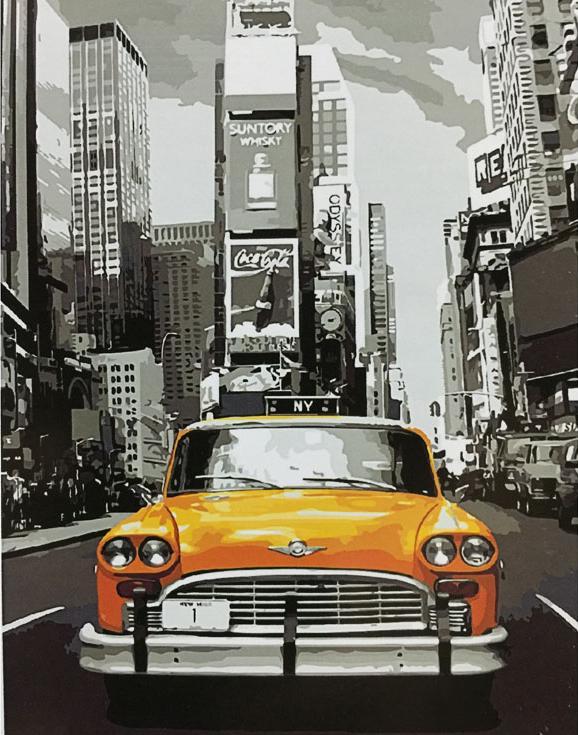 Картина по номерам «Нью-Йоркское такси»Раскраски по номерам<br><br>