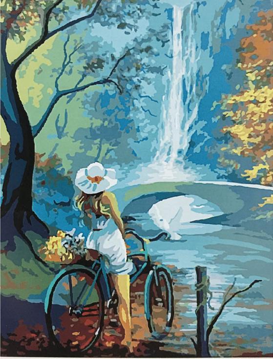 «Велосипедная прогулка»Раскраски по номерам Paintboy (Original)<br><br><br>Артикул: GX8148_R<br>Основа: Холст<br>Сложность: средние<br>Размер: 40x50 см<br>Количество цветов: 22<br>Техника рисования: Без смешивания красок
