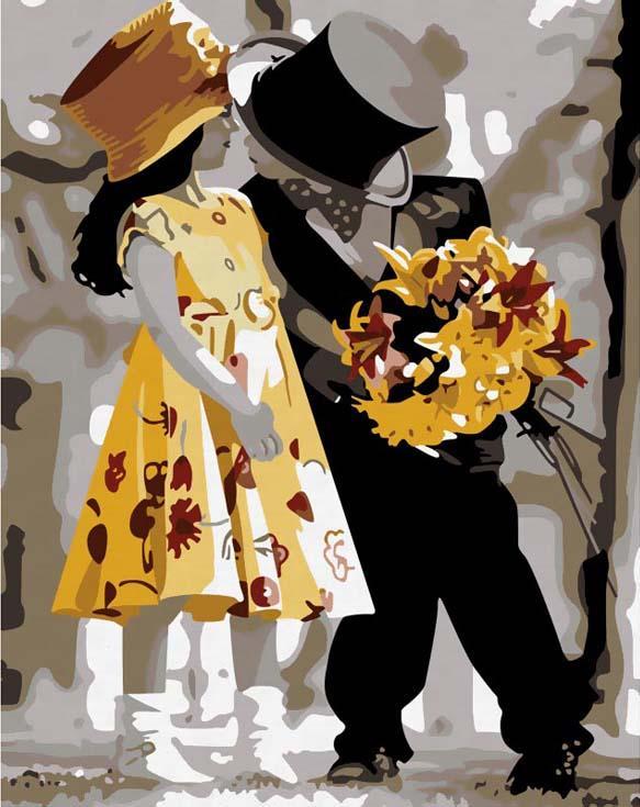 «Влюбленные дети» Кима АндерсонаРаскраски по номерам Menglei (Standart)<br><br><br>Артикул: MG225_S<br>Основа: Холст<br>Сложность: средние<br>Размер: 40x50 см<br>Количество цветов: 25<br>Техника рисования: Без смешивания красок
