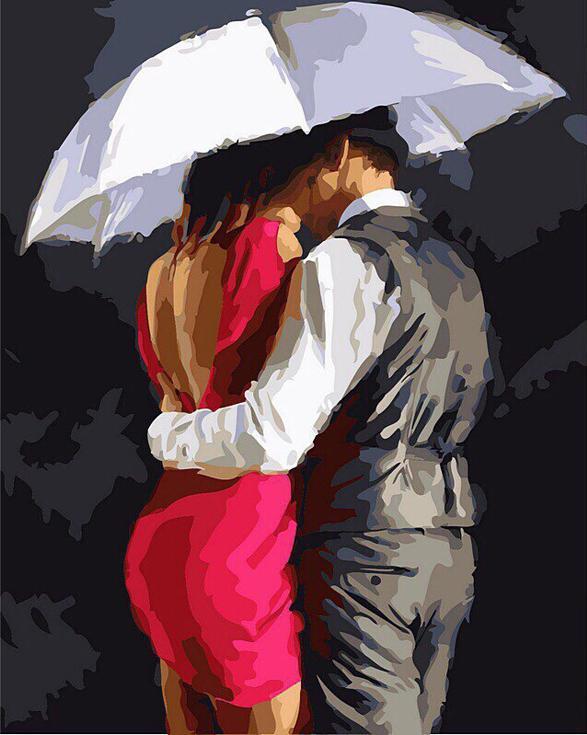 «Романтика под зонтом» Ричарда МакнейлаРаскраски по номерам Color Kit<br><br><br>Артикул: CG781<br>Основа: Холст<br>Сложность: средние<br>Размер: 40x50 см<br>Количество цветов: 26<br>Техника рисования: Без смешивания красок