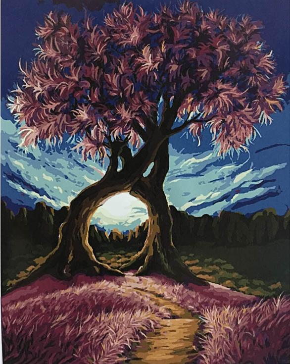 «Сплетение ветвей»Раскраски по номерам Paintboy (Original)<br><br><br>Артикул: GX8326_R<br>Основа: Холст<br>Сложность: средние<br>Размер: 40x50 см<br>Количество цветов: 27<br>Техника рисования: Без смешивания красок