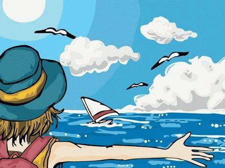 «Море»Menglei (Premium)<br>Море<br><br>Артикул: ME006<br>Основа: Холст<br>Сложность: легкие<br>Размер: 30x40 см<br>Количество цветов: 19<br>Техника рисования: Без смешивания красок