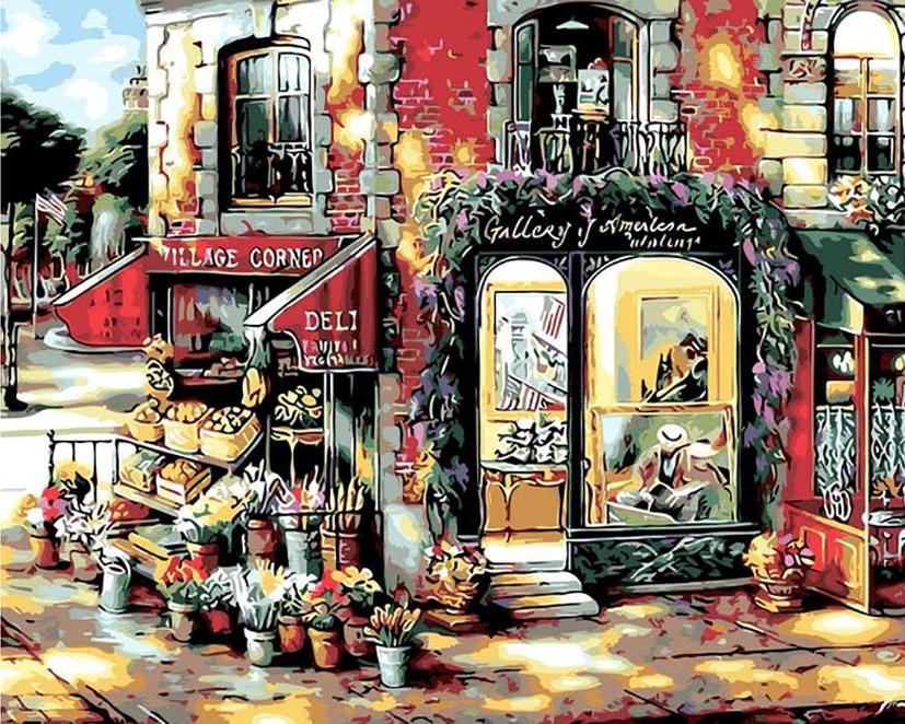 Картина по номерам «Деревенский уголок» Джона О'БрайенаPaintboy (Premium)<br><br><br>Артикул: Q881<br>Основа: Холст<br>Размер: 40x50 см<br>Количество цветов: 24<br>Техника рисования: Без смешивания красок