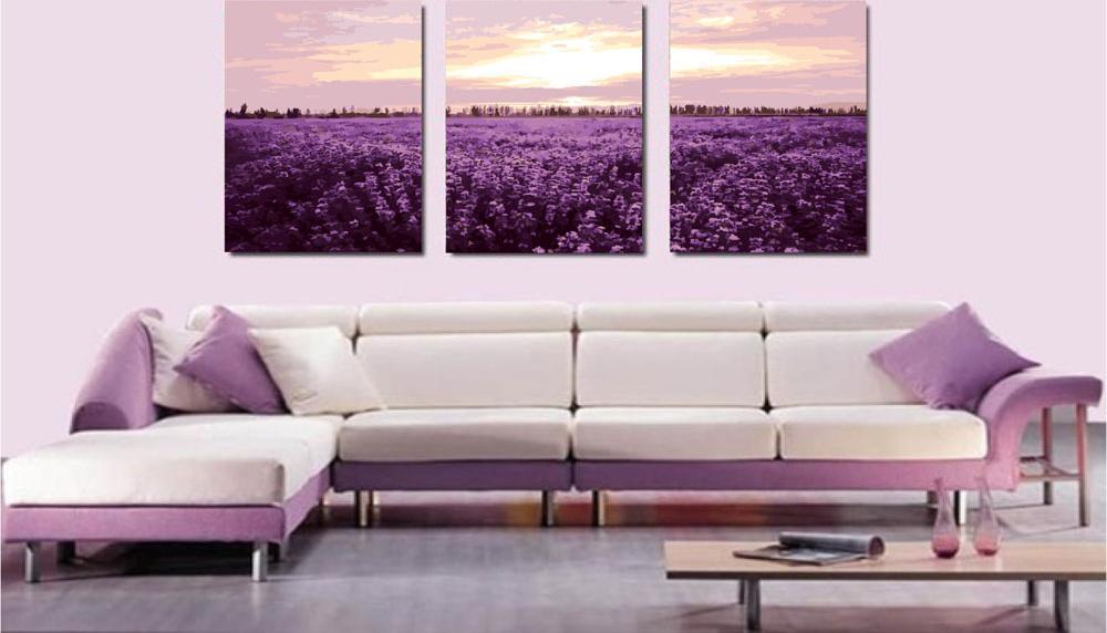 Картина по номерам «Лаванда»Menglei (Premium)<br><br><br>Артикул: MT3063<br>Основа: Холст<br>Сложность: сложные<br>Размер: 3 шт. 50x50 см<br>Количество цветов: 26<br>Техника рисования: Без смешивания красок