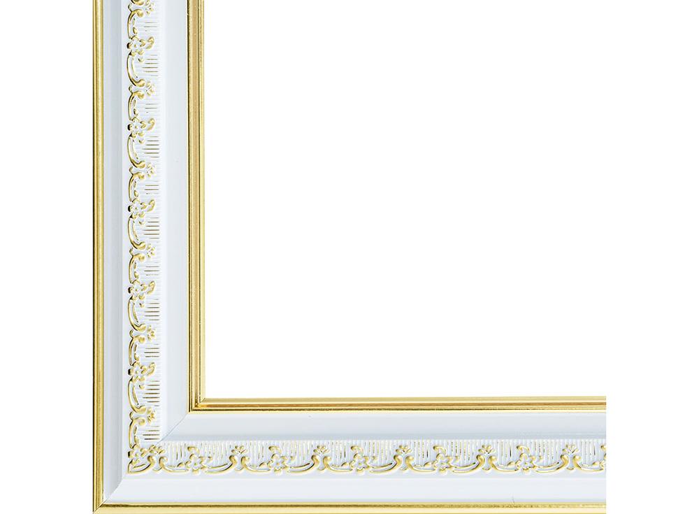 Рамка для картин «Bella»Багетные рамки<br><br><br>Артикул: 1056-BL<br>Размер: 30x40 см<br>Цвет: Серебро и золото<br>Материал багета: Пластик
