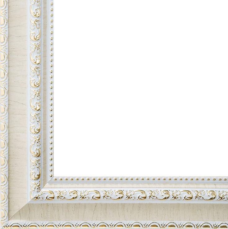 Рамка для картин «Donna»Багетные рамки<br><br><br>Артикул: 2201-BB<br>Размер: 40x50 см<br>Цвет: Светло-бежевый с золотом<br>Материал багета: Пластик