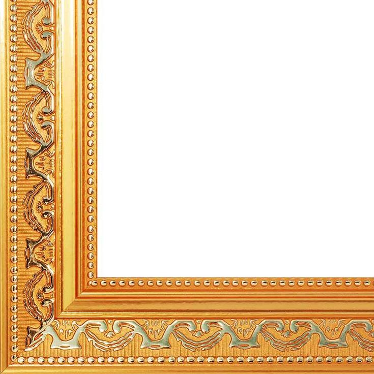 Рамка для картин «Baroque»Багетные рамки<br><br><br>Артикул: 2520-BB<br>Размер: 40x50 см<br>Цвет: Золото<br>Ширина: 45<br>Материал багета: Пластик