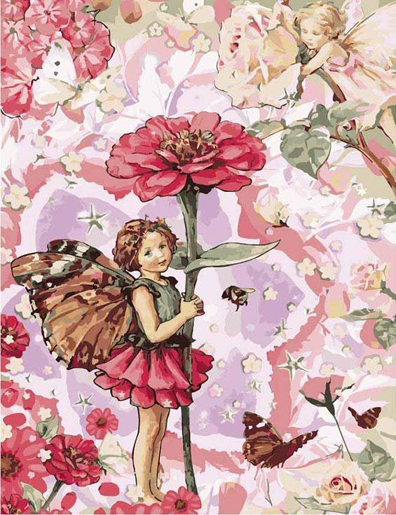 """Картина по номерам «Маленькая фея в цветах»Цветной (Premium)<br>Картина по номерам """"Маленькая фея в цветах"""" подойдет для украшения детской комнаты, гостиной, кухни, загородного дома, детского сада или кабинета педиатра. Маленькая Хранительница будет чутко улавливать потоки благотворной энергии, чтобы сплести из них кр...<br><br>Артикул: MMC069_Z<br>Основа: Холст<br>Сложность: очень сложные<br>Размер: 50x65 см<br>Количество цветов: 25<br>Техника рисования: Без смешивания красок"""