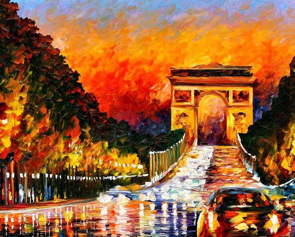 «Триумфальная арка» Леонида АфремоваPaintboy (Premium)<br><br><br>Артикул: Q671<br>Основа: Холст<br>Размер: 40x50<br>Количество цветов: 21<br>Техника рисования: Без смешивания красок