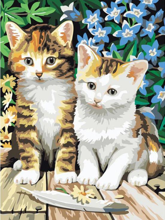 «Чудесные котята»Menglei (Premium)<br><br><br>Артикул: MG181<br>Основа: Холст<br>Сложность: сложные<br>Размер: 40x50 см<br>Количество цветов: 24<br>Техника рисования: Без смешивания красок