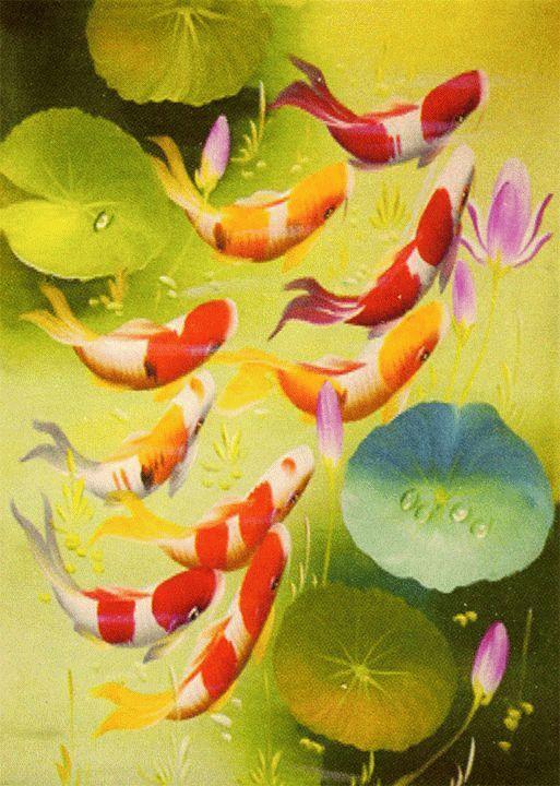«Рыбки в пруду»Menglei (Premium)<br><br><br>Артикул: ME097<br>Основа: Холст<br>Сложность: легкие<br>Размер: 30x40 см<br>Количество цветов: 20<br>Техника рисования: Без смешивания красок