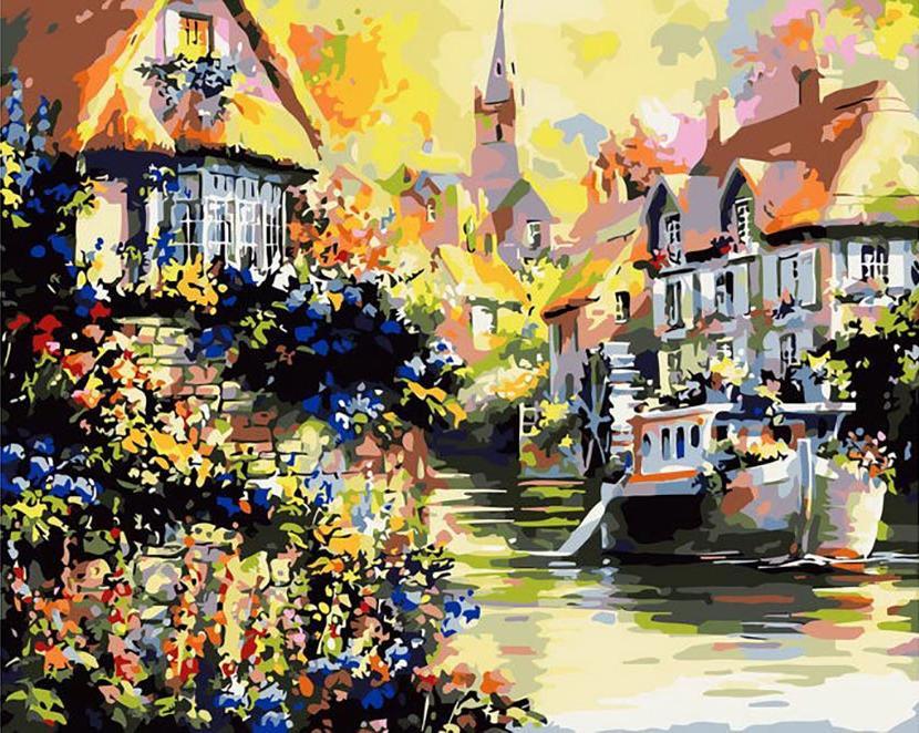 Картина по номерам «По каналам старой Европы» Джима МитчеллаMenglei (Premium)<br><br><br>Артикул: MG059<br>Основа: Холст<br>Сложность: сложные<br>Размер: 40x50 см<br>Количество цветов: 24<br>Техника рисования: Без смешивания красок