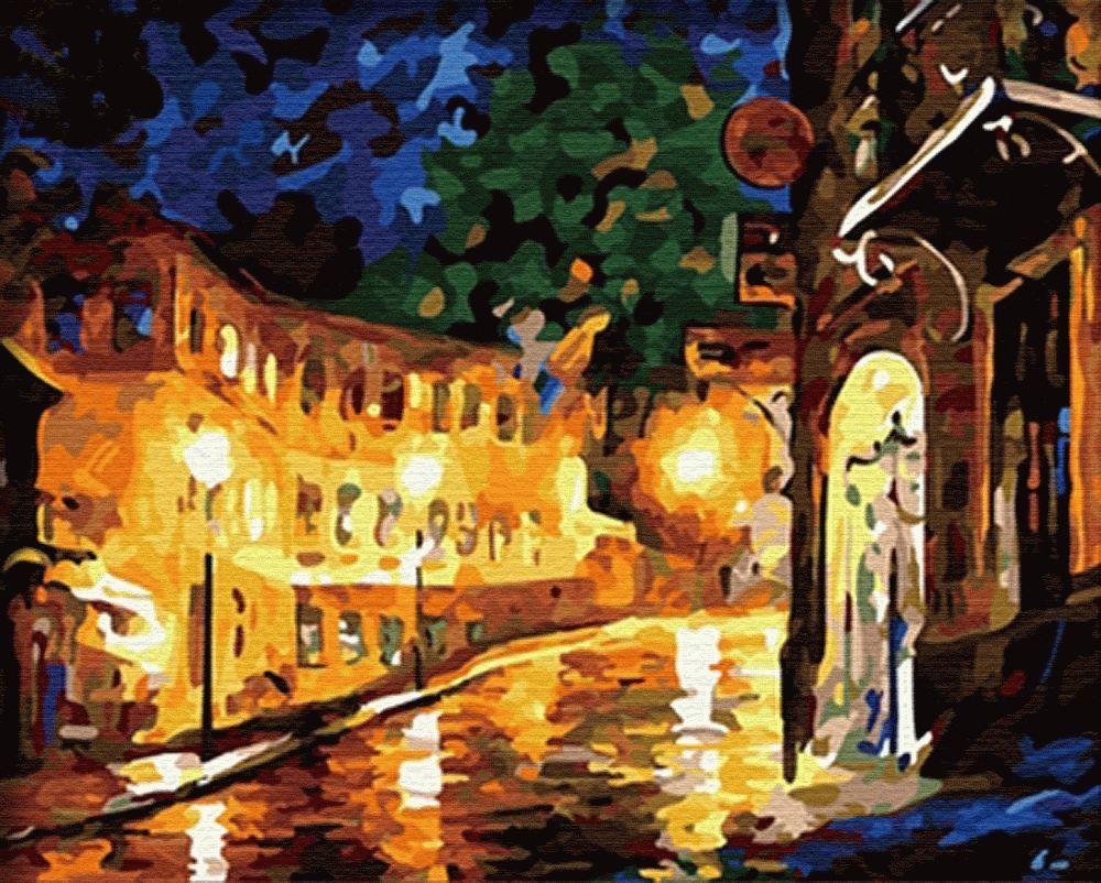 Картина по номерам «Ночной город» Леонида АфремоваMenglei (Premium)<br>Мало кто гуляет по ночному городу, ведь это время для сна и отдыха, именно поэтому большинство людей даже не подозревают, насколько улицы красивы в это время суток. Картина по номерам «Ночной город» - сюжет-релакс, который позволяет погрузиться в тишину я...<br><br>Артикул: MG065<br>Основа: Холст<br>Сложность: средние<br>Размер: 40x50 см<br>Количество цветов: 29<br>Техника рисования: Без смешивания красок