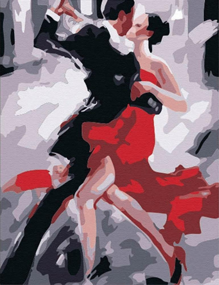 «Танец Танго»Раскраски по номерам Menglei (Standart)<br><br><br>Артикул: MG122_S<br>Основа: Холст<br>Сложность: средние<br>Размер: 40x50 см<br>Количество цветов: 14<br>Техника рисования: Без смешивания красок