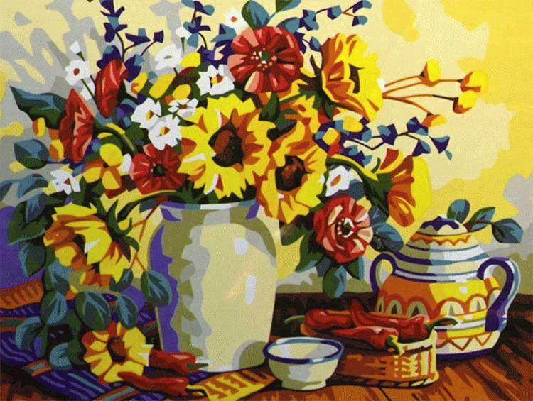 «Чай с цветами»Раскраски по номерам Menglei (Standart)<br><br><br>Артикул: MG196_S<br>Основа: Холст<br>Сложность: сложные<br>Размер: 40x50 см<br>Количество цветов: 24<br>Техника рисования: Без смешивания красок