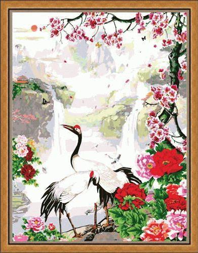 «Райское место»Menglei (Premium)<br><br><br>Артикул: MG212<br>Основа: Холст<br>Сложность: сложные<br>Размер: 40x50 см<br>Количество цветов: 28<br>Техника рисования: Без смешивания красок