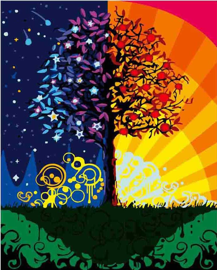 «Дерево счастья»Раскраски по номерам Menglei (Standart)<br><br><br>Артикул: MG224_S<br>Основа: Холст<br>Сложность: сложные<br>Размер: 40x50 см<br>Количество цветов: 24<br>Техника рисования: Без смешивания красок