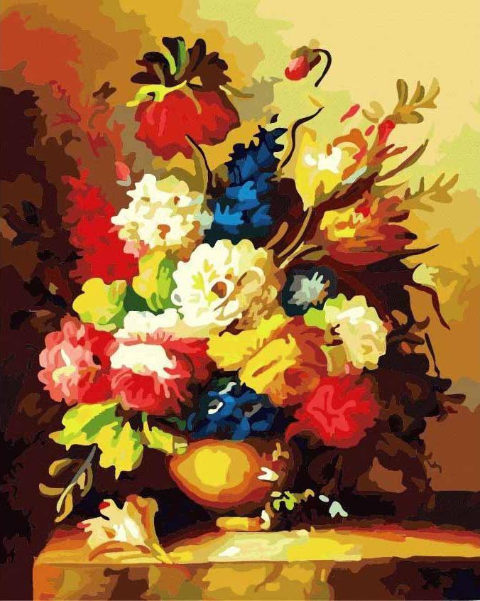Великолепные цветыMenglei (Premium)<br><br><br>Артикул: MG317<br>Основа: Холст<br>Сложность: очень сложные<br>Размер: 40x50<br>Количество цветов: 47<br>Техника рисования: Без смешивания красок