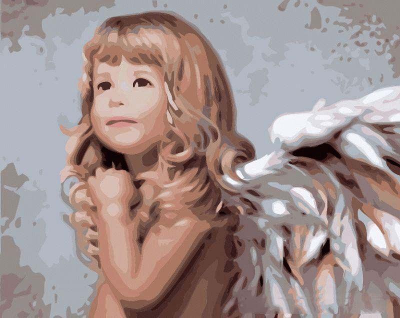 «Ангел» Ннси НольMenglei (Premium)<br>Светлые ангелы Ннси Ноль красивые и милые, глд на ее картины, лбой скептик может запросто поверить в существование столь трогательных посланников небес. Неудивительно, что раскрашива «Ангела», картину по номерам, ощущаешь неверотный душевный подъем...<br><br>Артикул: MG338<br>Основа: Холст<br>Сложность: сложные<br>Размер: 40x50 см<br>Количество цветов: 28<br>Техника рисовани: Без смешивани красок