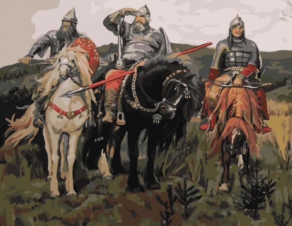 Картина по номерам «Три богатыря» Виктора Михайловича Васнецова