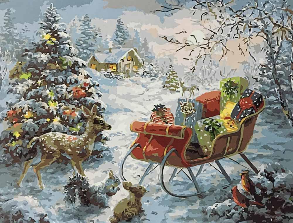 «Ночь перед Рождеством» Ники БоэмPaintboy (Premium)<br><br><br>Артикул: GX8108<br>Основа: Холст<br>Сложность: сложные<br>Размер: 40x50 см<br>Количество цветов: 25<br>Техника рисования: Без смешивания красок