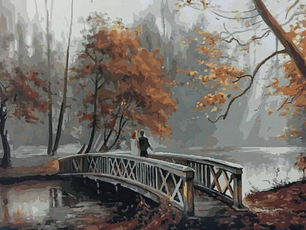«На мосту» Натальи ГригорьевойРаскраски по номерам Paintboy (Original)<br><br><br>Артикул: GX8156_R<br>Основа: Холст<br>Сложность: средние<br>Размер: 40x50 см<br>Количество цветов: 26<br>Техника рисования: Без смешивания красок