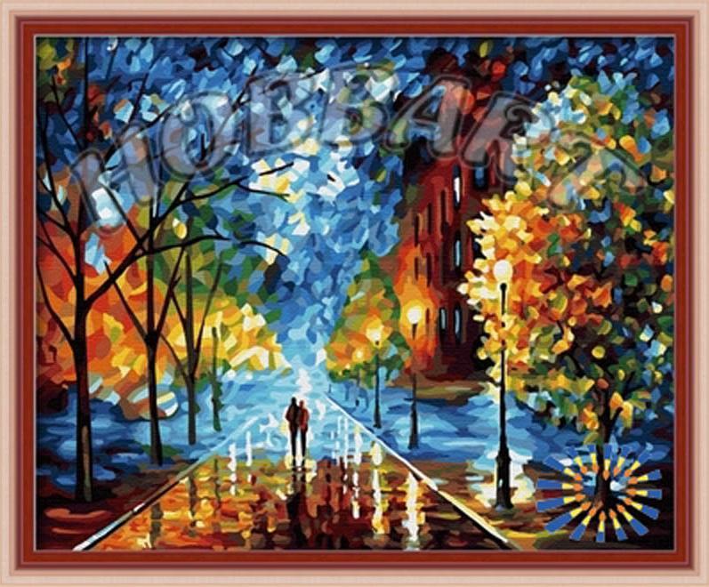 «Жизнь прекрасна» Леонида АфремоваHobbart<br>Многие считают осень унылой порой, а дождь - преградой для прогулок, но Леонид Афремов великолепно развеивает этот миф. Осень - прекрасное время года, когда деревья надевают разноцветный наряд, который вечер и свет уличных фонарей приукрашивают новыми отт...<br><br>Артикул: HB4050218<br>Основа: Холст<br>Сложность: средние<br>Размер: 40x50 см<br>Количество цветов: 25<br>Техника рисования: Без смешивания красок